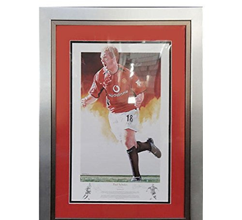 Signed Paul Scholes Photo - Framed Man Ltd Edition Print + COA
