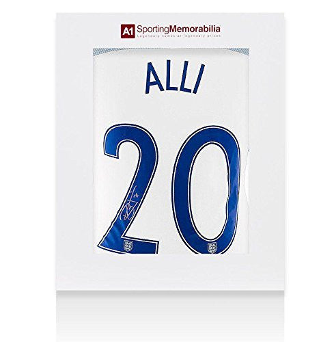 Dele Alli Signed England Shirt Number 20 - Gift Box Autograph Jersey