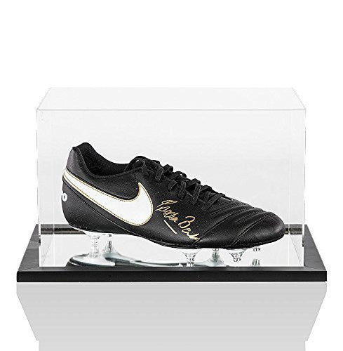 Gordon Banks Signed Football Boot Nike In Acrylic Display Case Autograph