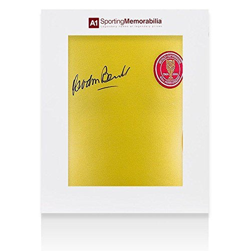Gordon Banks Signed England Shirt 40th Anniversary - Gift Box Autograph