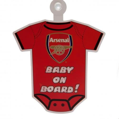 Arsenal 'Baby On Board' Window Sign