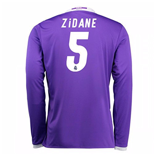 2016-17 Real Madrid Away Longsleeve Shirt (Zidane 5)