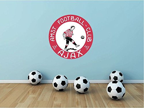"Ajax FC Amsterdam Wall Decor Sticker 22"" X 22"""