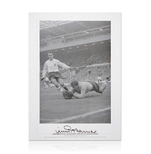 Jimmy Greaves Signed Photograph - Englands Greatest Goalscorer