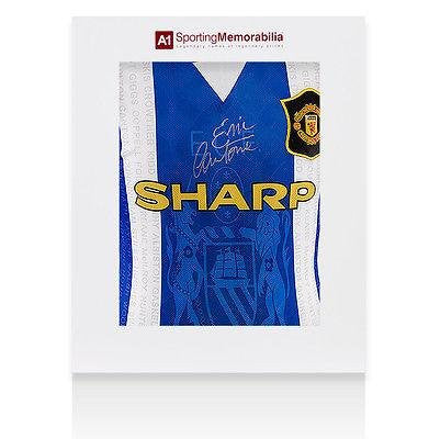 Eric Cantona Signed Manchester United Shirt 1996 Third Kit