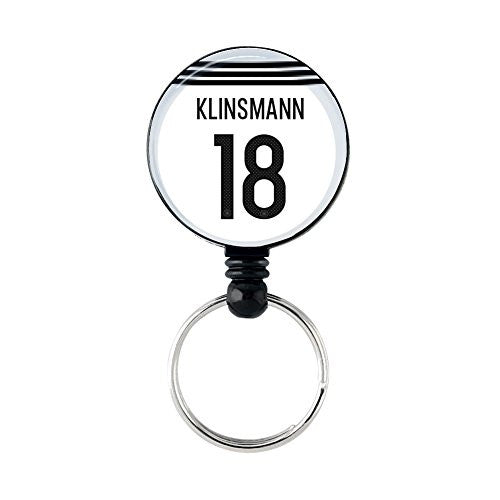 #18 Klinsmann Retractable Key Ring