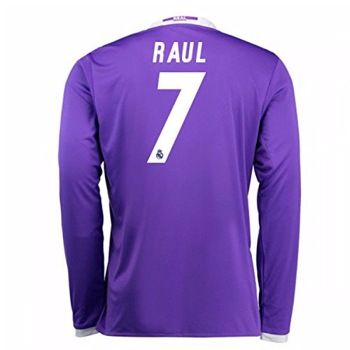 2016-17 Real Madrid Away Longsleeve Shirt (Raul 7)