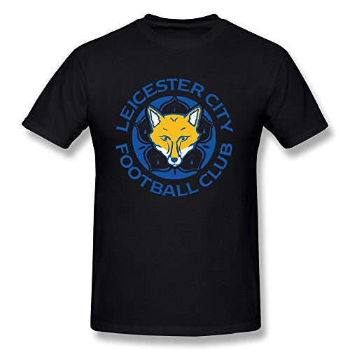 Leicester City Black Cotton T Shirt