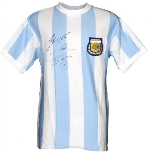 sneakers for cheap d6476 eb50a Lionel Messi & Diego Maradona Argentina Dual Autographed ...