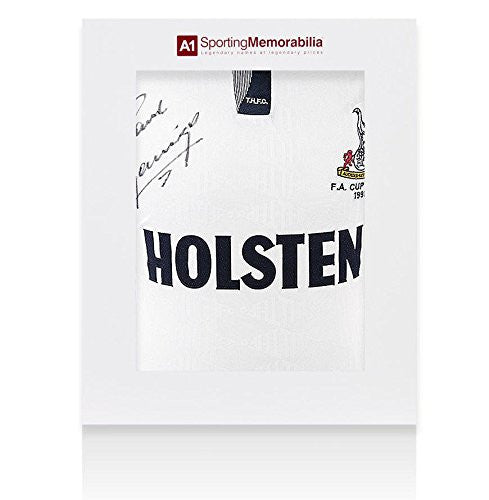 Paul Gascoigne Signed Shirt Tottenham Hotspur 1991 FA Cup Final - Gift Box - Autographed Jerseys