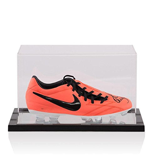 Paul Scholes Hand Signed Nike Pink Football Boot - In Acrylic Display Case