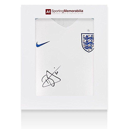 Dele Alli Signed England Shirt 2015/2016 - Gift Box Autograph Jersey