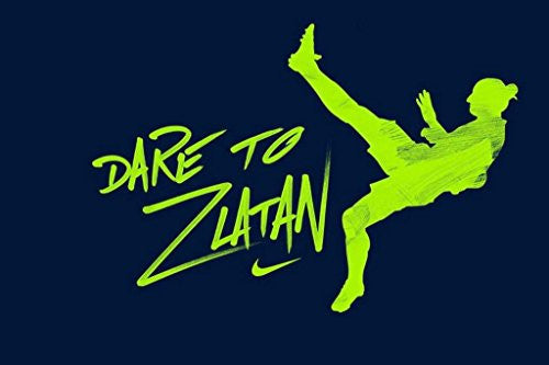 Zlatan Ibrahimovic 'Dare To Zlatan' Spun Silk Fabric Cloth Wall Poster Print (36x24inch 90x60cm)