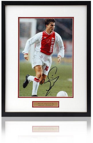 "Brian Laudrup hand signed 12x8"" Ajax photograph"