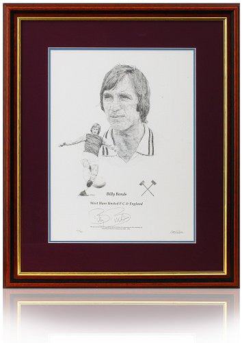 Billy Bonds hand signed West Ham United art print