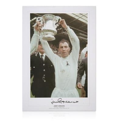 Jimmy Greaves signed photo - 1967 FA Cup