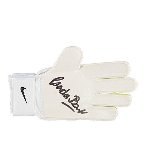 Gordon Banks Signed Goalkeeper Glove - Nike Yellow Autograph - Autographed Soccer Equipment
