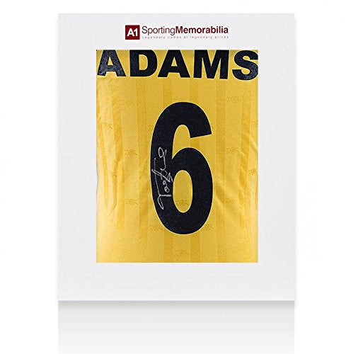 Tony Adams Signed Arsenal Shirt Away - Gift Box Autograph Jersey - Autographed Soccer Jerseys