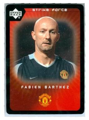 Fabien Barthez trading card 2003 Upper Deck Strike Force #37