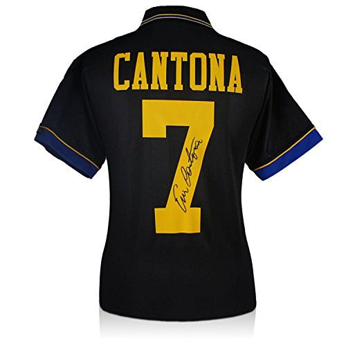 Eric Cantona Signed Manchester United 1994 Black Away Jersey