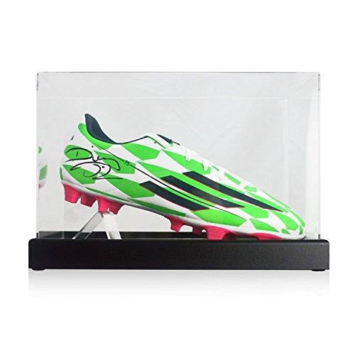 Diego Costa Signed Green Soccer Shoe In Display Case
