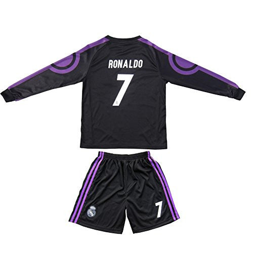 super popular f9380 27991 2015/2016 Real Madrid Ronaldo #7 Away Kids Jersey ...