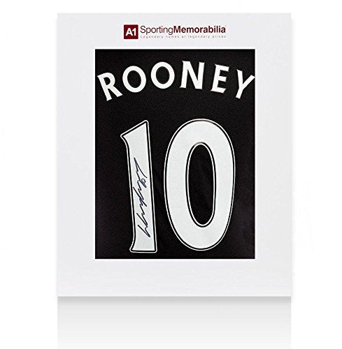 Wayne Rooney Signed Manchester United Third Shirt 2015/2016 Fan Style Numbers