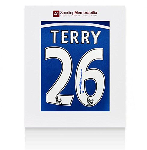 John Terry Signed Jersey - Shirt Gift Box
