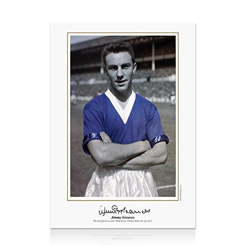 Jimmy Greaves Autographed Photograph - print Boy at the Bridge - Autographed Soccer Photos