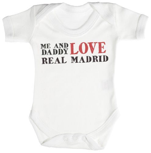 'Me & Daddy Love Real Madrid' Baby Bodysuit