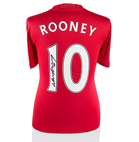 Wayne Rooney Signed Manchester United Shirt 2016/2017 Number 10