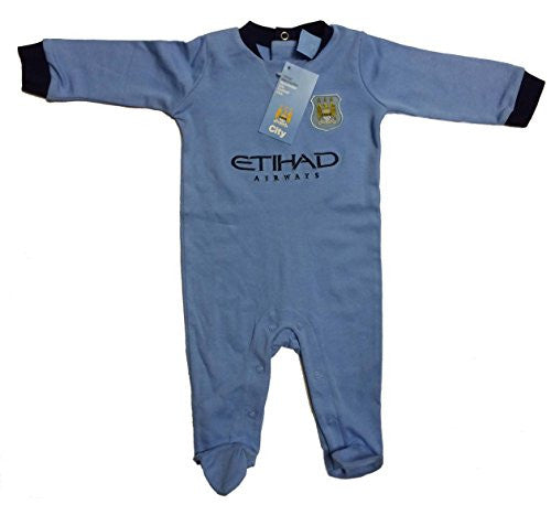 Official Manchester City FC Baby Infant Sleepsuit