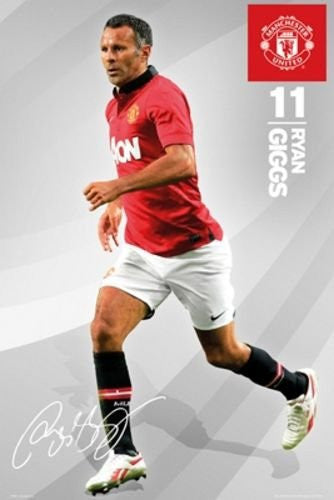 Ryan Giggs 11 - Manchester United Football Club Poster