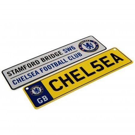 Chelsea FC Licence Plate Signs