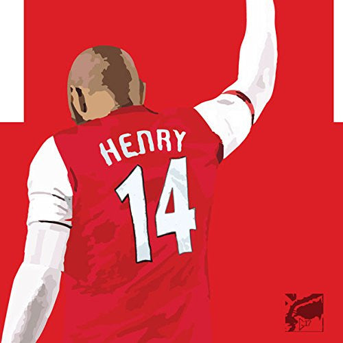 Thierry Henry Poster - Arsenal Soccer Art