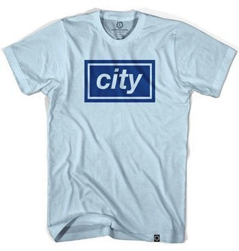 Manchester City Oasis Inspired Baby Blue T-Shirt