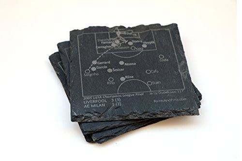 Liverpool Greatest Plays - Slate Coasters