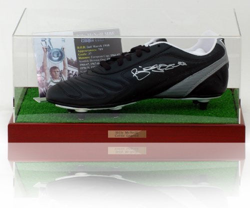 Billy McNeill hand signed Football Boot
