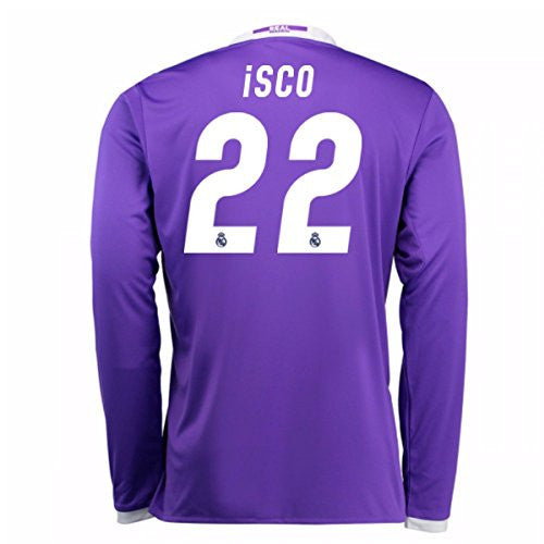 2016-17 Real Madrid Away Longsleeve Shirt (Isco 22)