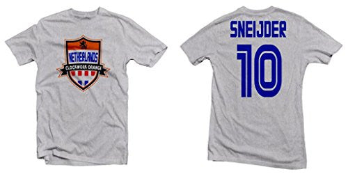 Netherlands Clockwork Orange Hero Tee: Wesley Sneijder Printed Tee