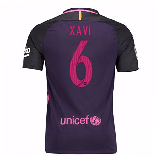 2016-17 Barcelona With Sponsor Away Shirt (Xavi 6)