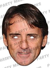 Roberto Mancini Celebrity Face Card Mask