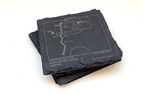 Manchester United Greatest Plays - Slate Coasters