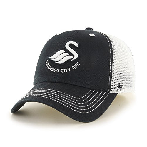 Swansea City AFC Closer Hat, One Size Stretch, Black