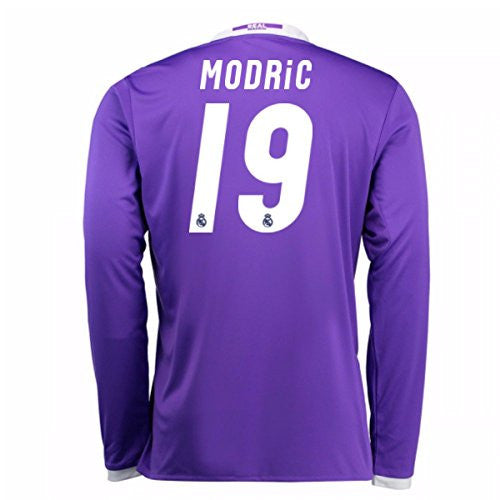 2016-17 Real Madrid Away Longsleeve Shirt (Modric 19)