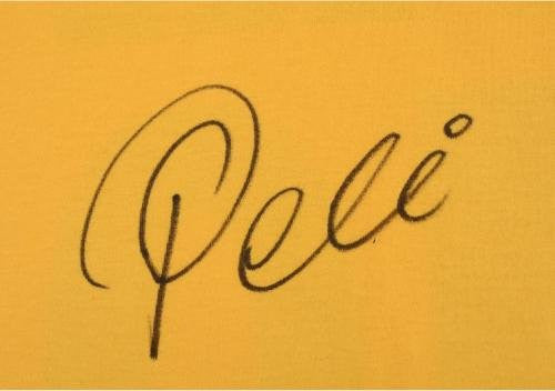 Pele Signed Toffs Brazil National Team Yellow Jersey