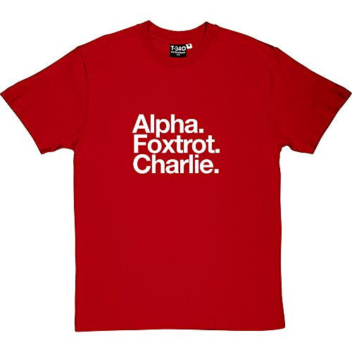 Aberdeen FC: Alpha Foxtrot Charlie Red Men's T-Shirt