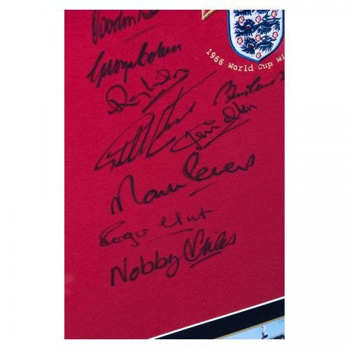 Signed Alan Ball Football - by 10 Charlton Hurst 66 England Shirt & World Cup Final Medal - Autographed Soccer Jerseys