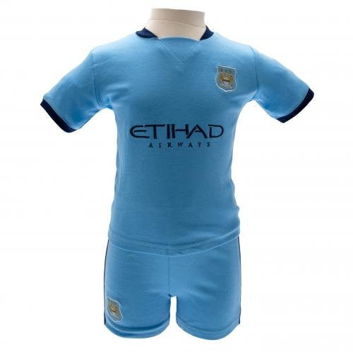 Manchester City Baby (Infant) T-Shirt and Shorts Kit 2014 - 2015