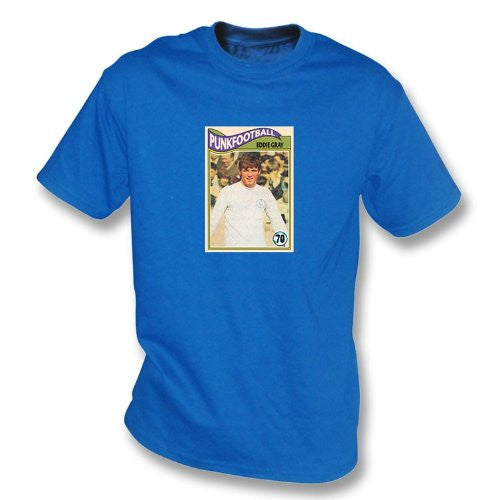 Eddie Gray 1970 Leeds United Royal Blue T-Shirt